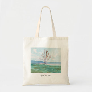 Personalized Beach Landscape Tote Bag