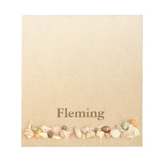 Personalized Beach Sand with Seashells Notepad