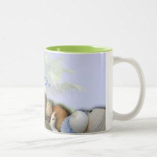 Personalized Beach Shells Palm Trees Coffee Mug