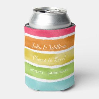 Personalized Beach Wedding Fun Colorful Striped
