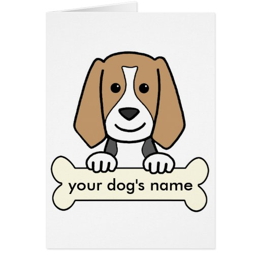 Personalized Beagle Card