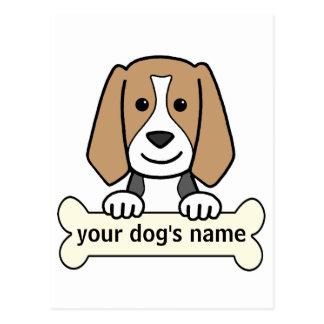 Personalized Beagle Postcard