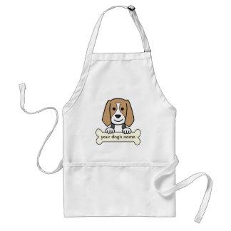 Personalized Beagle Standard Apron