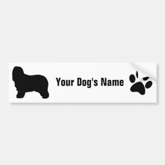 Personalized Bearded Collie ビアデッド・コリー Bumper Sticker