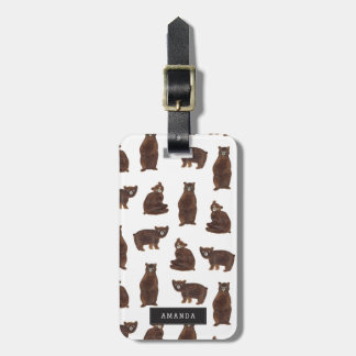Personalized Bears Luggage Tag