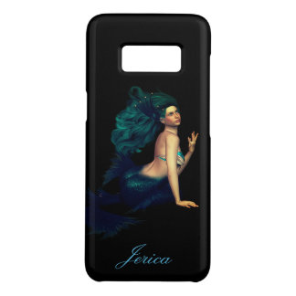 Personalized Beautiful Mermaid on Black Case-Mate Samsung Galaxy S8 Case