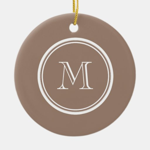 Personalized Beaver Brown High End Colored Christmas Tree Ornaments