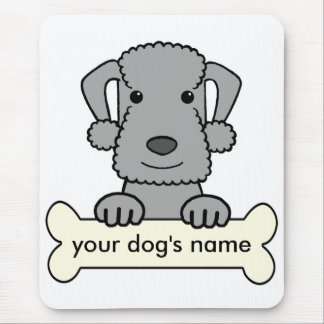 Personalized Bedlington Terrier Mouse Pad