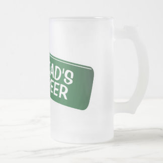 Personalized beer glass for dad | Fathers day gift Frosted Glass Mug