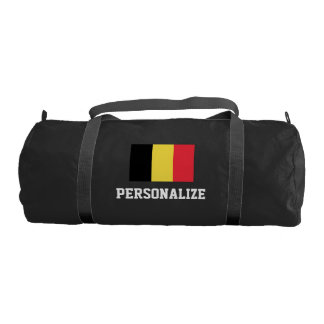 Personalized belgian flag duffle gym bag for sport