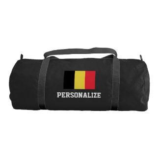 Personalized belgian flag duffle gym bag for sport gym duffel bag