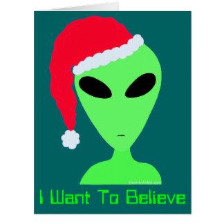 Personalized Believe In Christmas Geek Humor Card