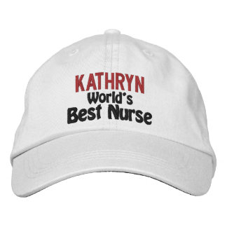 Personalized Best Nurse Embroidered Hat