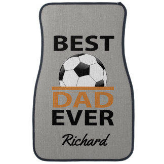 Personalized Best Soccer Dad Ever Soccer Ball Car Mat