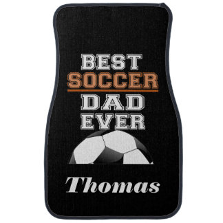 Personalized Best Soccer Dad Ever Soccer Ball Floor Mat