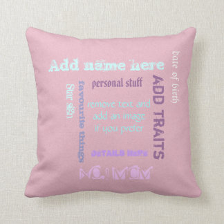 Personalized BFF best friends forever wordcloud Cushion