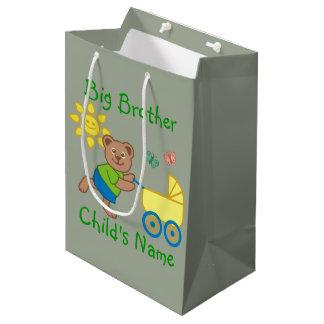Personalized Big Brother Cute Bear Stroller Medium Gift Bag