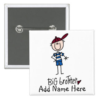 Personalized Big Brother Tshirts and Gifts 15 Cm Square Badge
