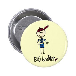 Personalized Big Brother Tshirts and Gifts 6 Cm Round Badge