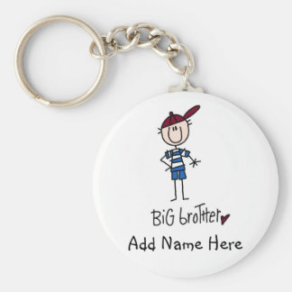 Personalized Big Brother Tshirts and Gifts Basic Round Button Key Ring