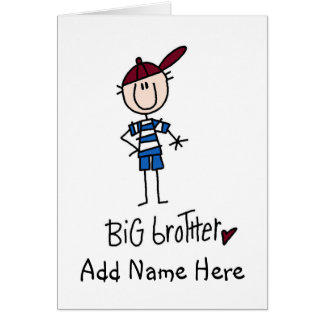 Personalized Big Brother Tshirts and Gifts Greeting Card