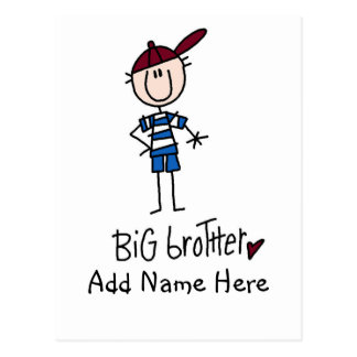 Personalized Big Brother Tshirts and Gifts Postcard