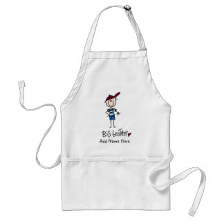 Personalized Big Brother Tshirts and Gifts Standard Apron