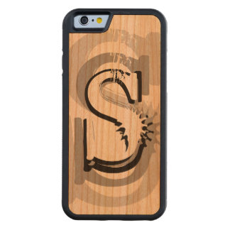 Personalized Big Monogram Carved Cherry iPhone 6 Bumper Case