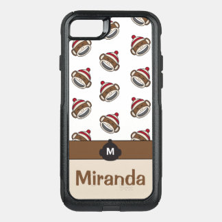 Personalized Big Smile Sock Monkey Emoji OtterBox Commuter iPhone 8/7 Case