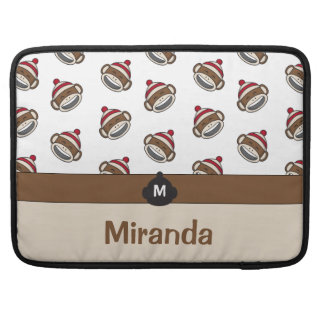 Personalized Big Smile Sock Monkey Emoji Sleeve For MacBook Pro