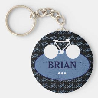 personalized biker idea basic round button key ring