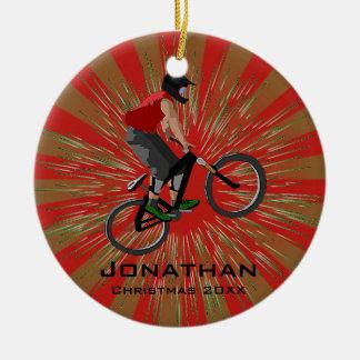 Personalized Biking Ornament