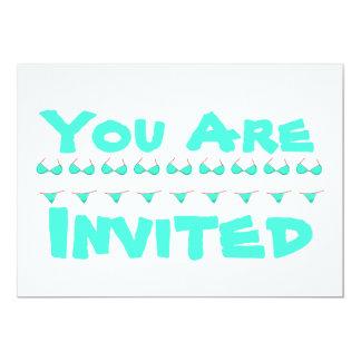 Personalized Bikini Beach or Pool Party Invite