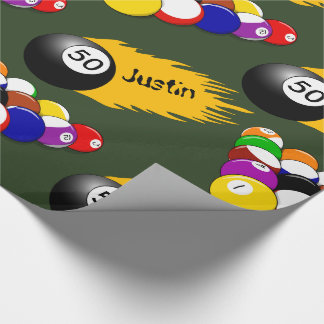 Personalized Billiards Wrapping Paper