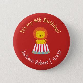 Personalized Birthday Badge- Circus Theme 6 Cm Round Badge