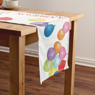 Personalized Birthday Balloons Table Runner
