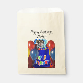 Personalized Birthday chihuahua dog treat bags