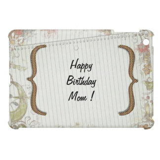 Personalized Birthday Flowers Notebook Paper iPad Mini Case