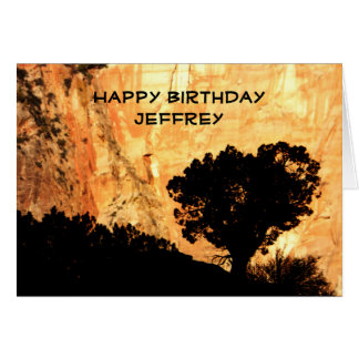 Personalized Birthday Greeting Card, Lone Tree Card