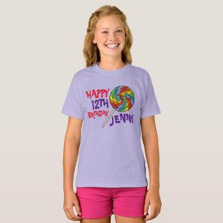 Personalized Birthday Party Favor Rainbow Lollipop T-Shirt