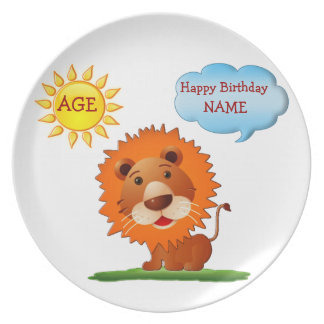 Personalized Birthday Plates for Kids Name & AGE
