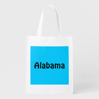 Personalized Black and Aqua Reusable Grocery Bag