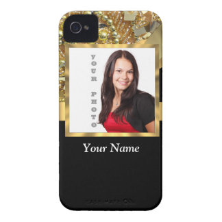 Personalized black and gold iPhone 4 cover