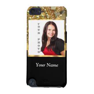 Personalized black and gold iPod touch 5G case
