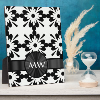 Personalized black and white abstract plaque