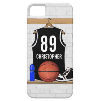 Personalized Black and White Basketball Jersey iPhone 5 Cover