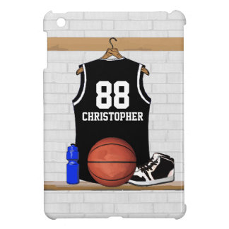 Personalized Black and White Basketball Jersey Cover For The iPad Mini
