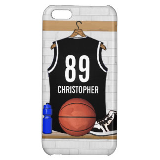 Personalized Black and White Basketball Jersey iPhone 5C Cover