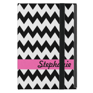 Personalized Black and White Zigzag Case For iPad Mini