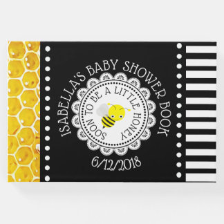 Personalized Black bee Bumblebee Baby Shower Book